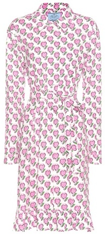 prada Prada Printed Cotton Dress