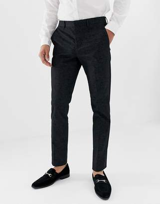 Jack and Jones tuxedo suit pants with paisley jacquard in skinny fit
