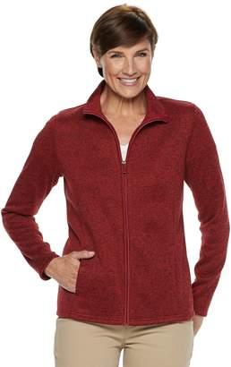 Croft & Barrow Women's Zip-Front Sweater Jacket