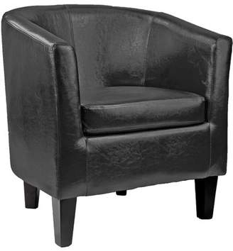 Corliving CorLiving Antonio Bonded Leather Tub Chair