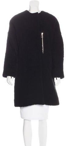 Balenciaga Balenciaga Leather-Trimmed Shearling Coat