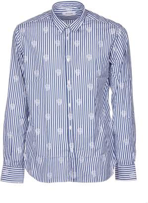 Aglini Striped Skull Shirt