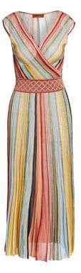 Missoni Multicolor Stripe Sleeveless A-Line Dress