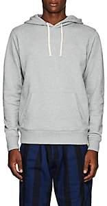 Saturdays NYC Men's Slash-Embroidered Cotton Terry Hoodie-Light Gray