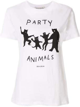 Être Cécile Party Animals T-shirt