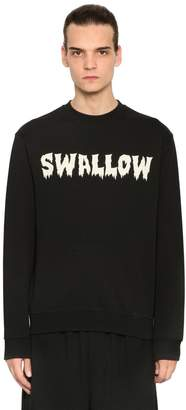 McQ Swallow Printed Cotton Sweatshirt