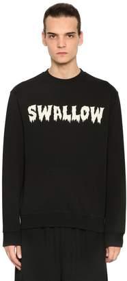 McQ Swallow Printed Cotton Sweatshirt