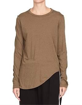 Bassike Htg Scoop Hem Long Sleeve T.Shirt