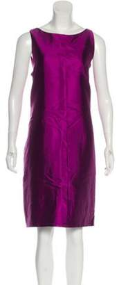 Alberta Ferretti Silk Midi Dress Purple Silk Midi Dress