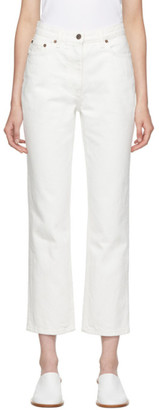 The Row White Charlee Jeans