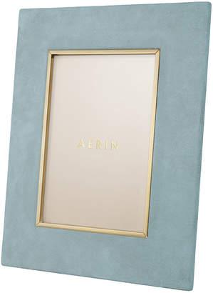 """AERIN Valentina Suede Photo Frame - Azure - 5x7"""""""