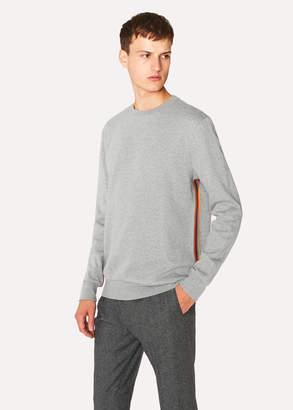 Paul Smith Men's Grey 'Artist Stripe' Tape Seam Sweatshirt