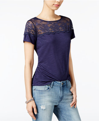 Maison Jules Lace-Trim Top, Only at Macy's $39.50 thestylecure.com