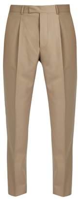 Officine Generale Marcel Slim Leg Cotton Trousers - Mens - Beige