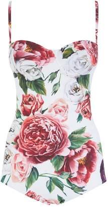 Dolce & Gabbana Peony Print Swimsuit