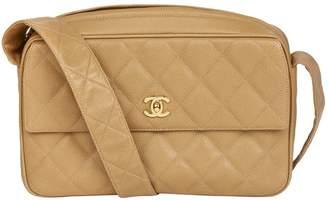 Chanel Vintage Camera Beige Leather Handbag