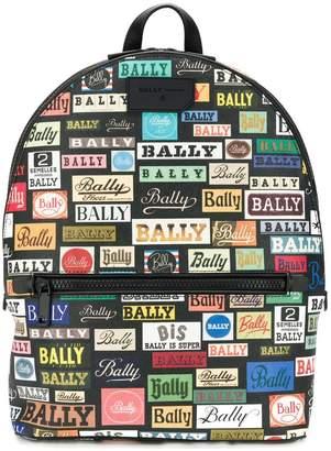 Bally logo print backpack