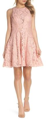 Xscape Evenings Lace Fit & Flare Dress