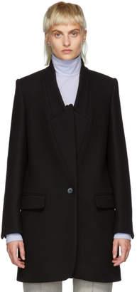 Stella McCartney Black Wool Felt Coat