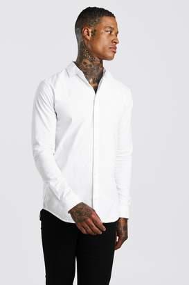 boohoo Muscle Fit Long Sleeve Shirt