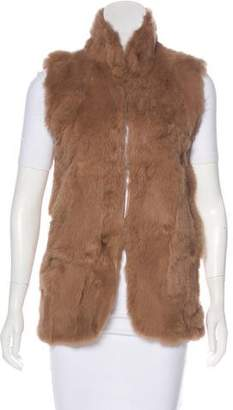 Adrienne Landau Fur Fold-Over Collar Vest