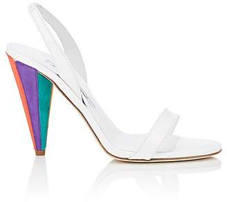 Brian Atwood WOMEN'S PATENT LEATHER & SUEDE SLINGBACK SANDALS