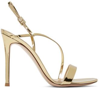 Gianvito Rossi Gold Manhattan Sandals