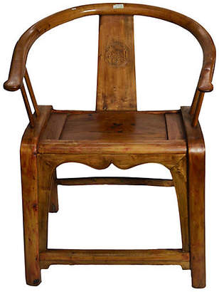 One Kings Lane Vintage Antique Chinese Hand Carved Wooden Chair - FEA Home