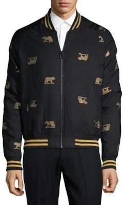 Tallia Printed Bomber Jacket