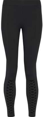 Cushnie et Ochs Lattice-Trimmed Stretch Leggings