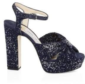 Jimmy Choo Heloise Jacquard Platform Sandals