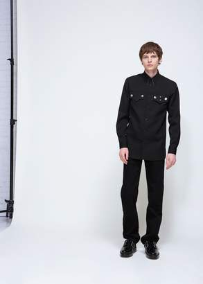 Calvin Klein Wool Gabardine Officer Shirt