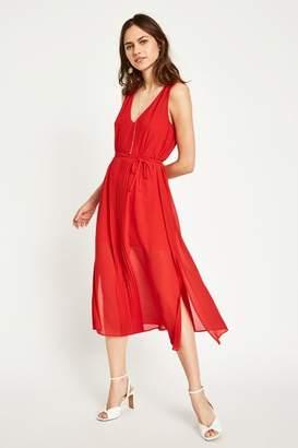 Jack Wills Palmsley Long Pleated Dress