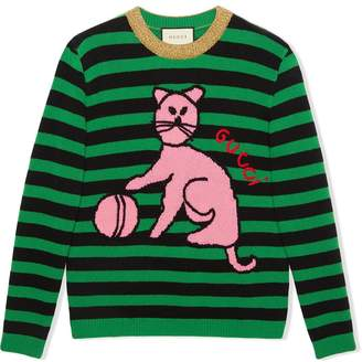 Gucci Sweater with cat and baseball
