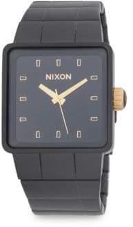 Nixon Quatro Sterling Silver Bracelet Watch