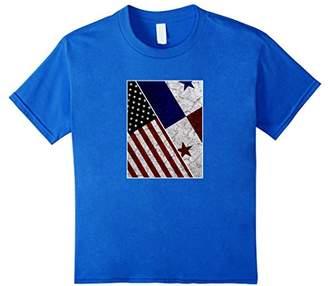 Panama USA American Flag T-shirt Distressed