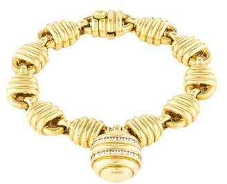 Tiffany & Co. 18K Diamond Honeycomb Bracelet
