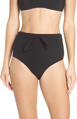Tory Burch Sash Tie High Waist Bikini Bottoms