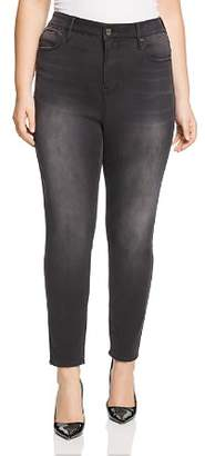 Seven7 Jeans Plus High-Rise Skinny Jeans in Dark Night