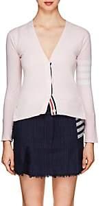 Thom Browne Women's Block-Striped Cashmere Cardigan - Pink
