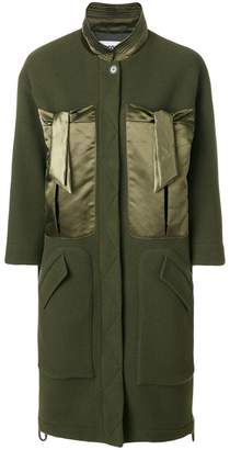 Moschino satin pocket coat
