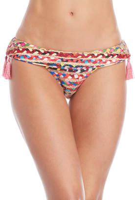 Sam Edelman Braided Raffia Print Bikini Bottom
