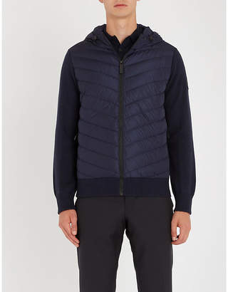 Canada Goose HyBridge hooded shell-down and wool jacket
