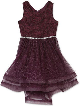 Speechless Little Girls Glitter Lace Dress