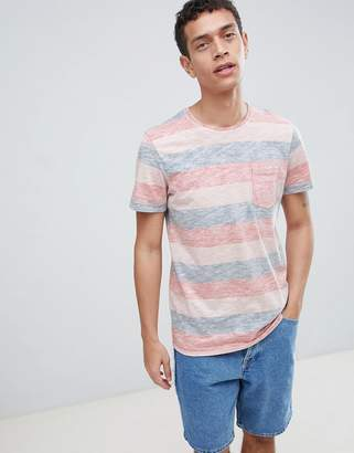Jack and Jones Originals T-Shirt With Marl Stripe