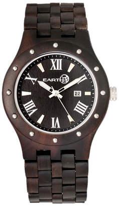 Earth Wood Inyo Wood Bracelet Watch W/Date Brown 46Mm