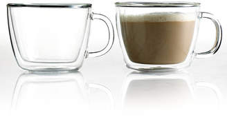 Bodum Bistro Cafe Set of 2 Double Walled 15 Oz. Latte Cups