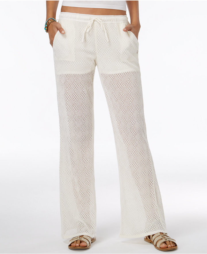 Roxy Juniors' Peace Drawstring Flare Pants