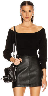 Alexander Wang Fitted Cropped Top in Black | FWRD