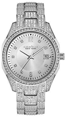 Swarovski Caravelle New York Women's 43M112 Crystal Pave Watch